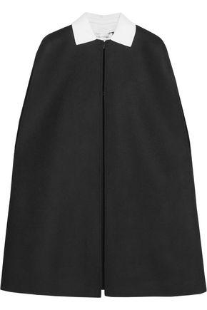 VALENTINO Two-tone wool-blend felt cape