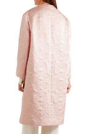 ALEXANDER MCQUEEN Quilted silk coat