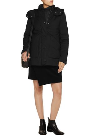 MAJE Padded cotton-blend hooded coat