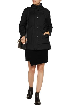 MAJE Padded cotton-blend hooded coat