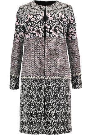 GIAMBATTISTA VALLI Macramé lace-paneled silk bouclé coat