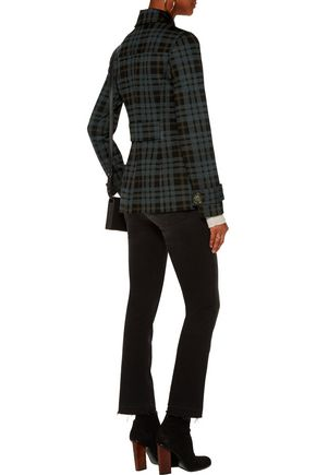 BAILEY 44 Checked stretch-twill coat