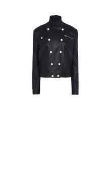 PHILOSOPHY di LORENZO SERAFINI Leather jacket LEATHER & FUR Woman f