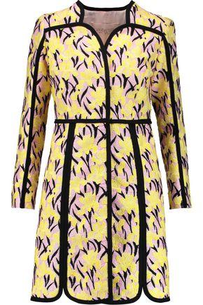 GIAMBATTISTA VALLI Crepe-trimmed embroidered cotton-blend coat