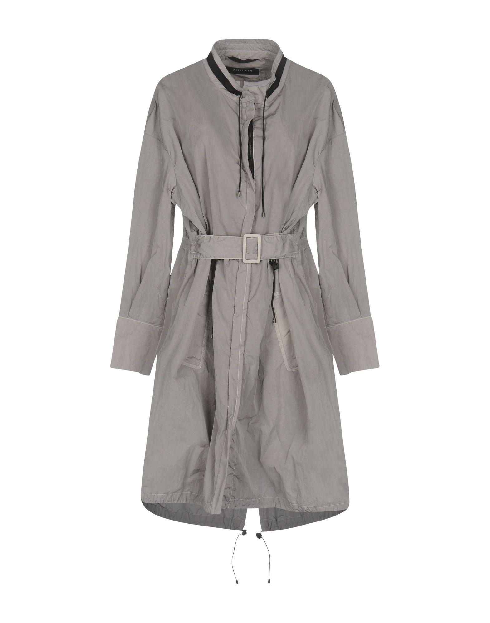 AHIRAIN Full-Length Jacket in Grey