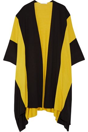 VICTOR ALFARO Striped wool and silk-blend cape