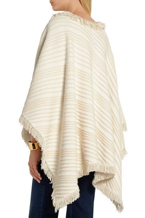 SONIA RYKIEL Striped cotton poncho