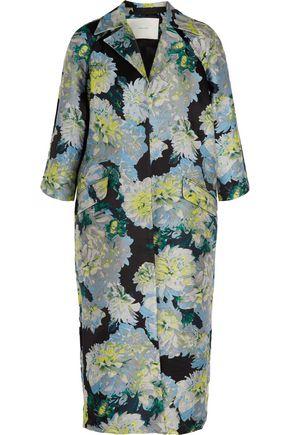 ADAM LIPPES Opera oversized floral-jacquard coat