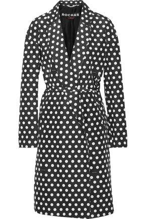 ROCHAS Polka-dot cotton and silk-blend twill coat