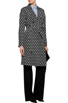 ROCHAS Polka-dot cotton and silk-blend twill coat