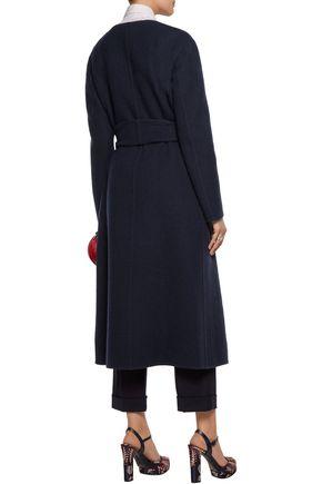 ROCHAS Brushed wool-blend coat