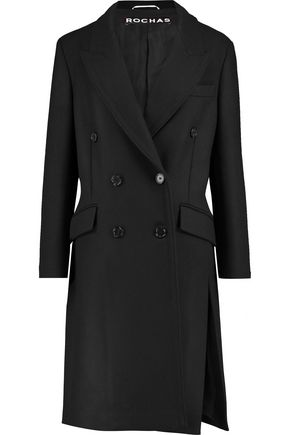 ROCHAS Belted wool-blend felt coat