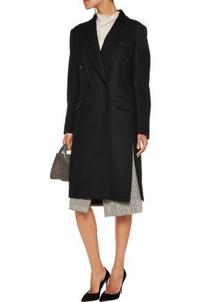 ROCHAS Belted wool-blend felt coat