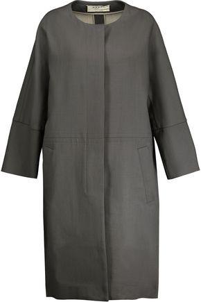 MARNI Wool and linen-blend coat