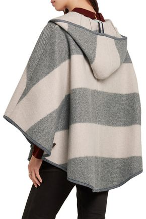 M.I.H JEANS Striped wool-blend twill hooded cape