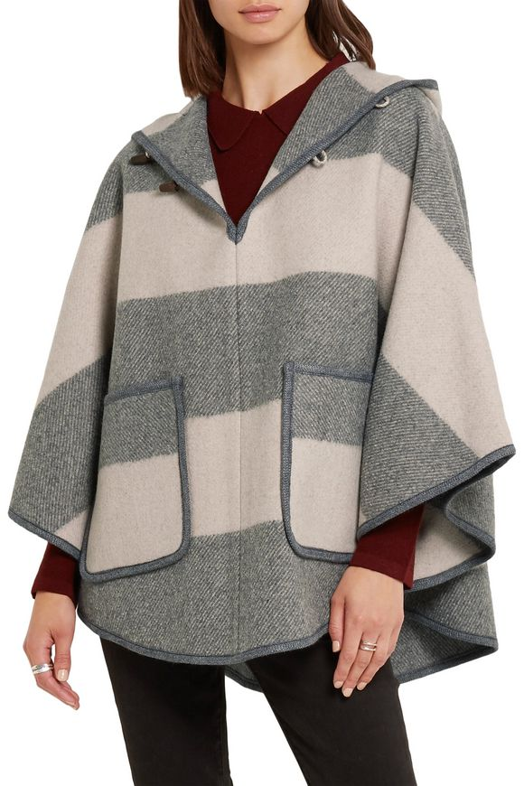 Striped wool-blend twill hooded cape | M.I.H JEANS | Sale up to 70% off |  THE OUTNET