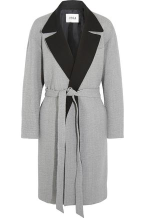 ISSA Robbie brushed wool-blend coat
