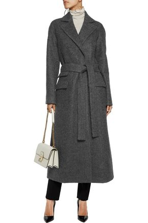 ANTONIO BERARDI Alpaca and wool-blend belted coat