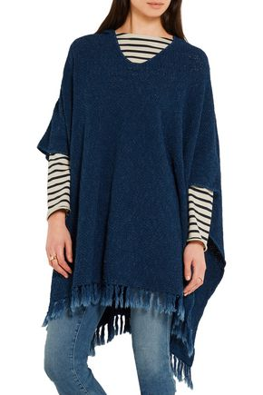 M.I.H JEANS Malaquite cotton-blend hooded poncho
