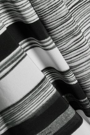 NORMA KAMALI Striped tech-jersey jacket