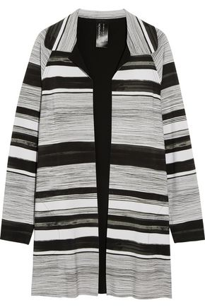 NORMA KAMALI Striped tech-jersey jacket