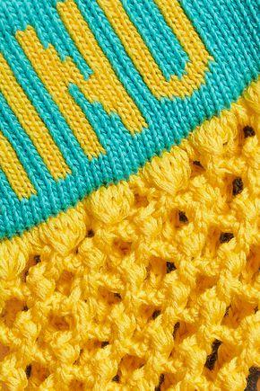 MOSCHINO Open-knit cotton cardigan
