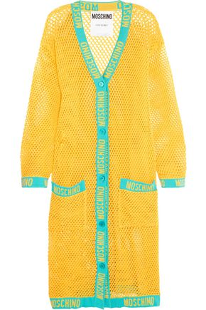 MOSCHINO Open-knit cotton cardigan