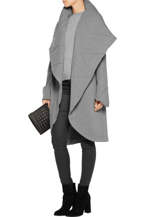 NORMA KAMALI Quilted stretch cotton-blend coat