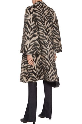 ROBERTO CAVALLI Printed brushed wool-blend coat