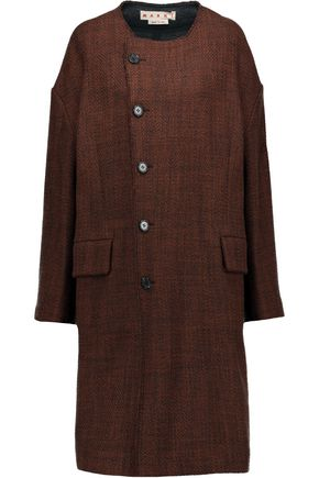 MARNI Textured wool-blend coat