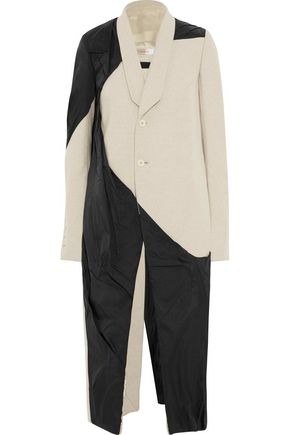 RICK OWENS Shell and wool-blend coat