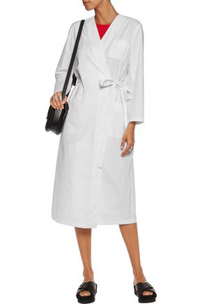 MM6 by MAISON MARGIELA Washed cotton-twill wrap coat