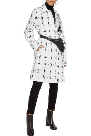 MM6 by MAISON MARGIELA Two-tone printed cotton-blend poplin coat