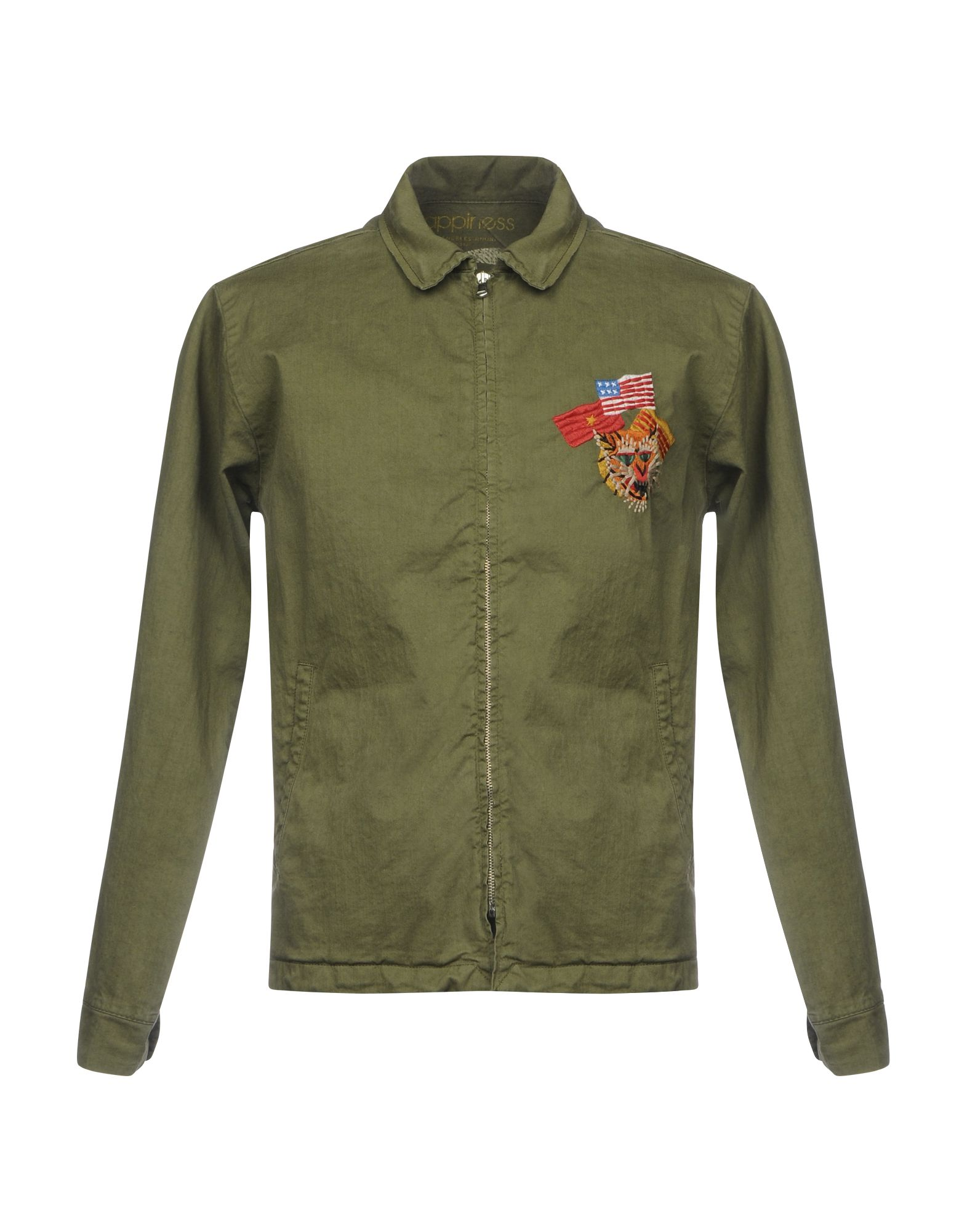 HAPPINESS Jackets in Military Green