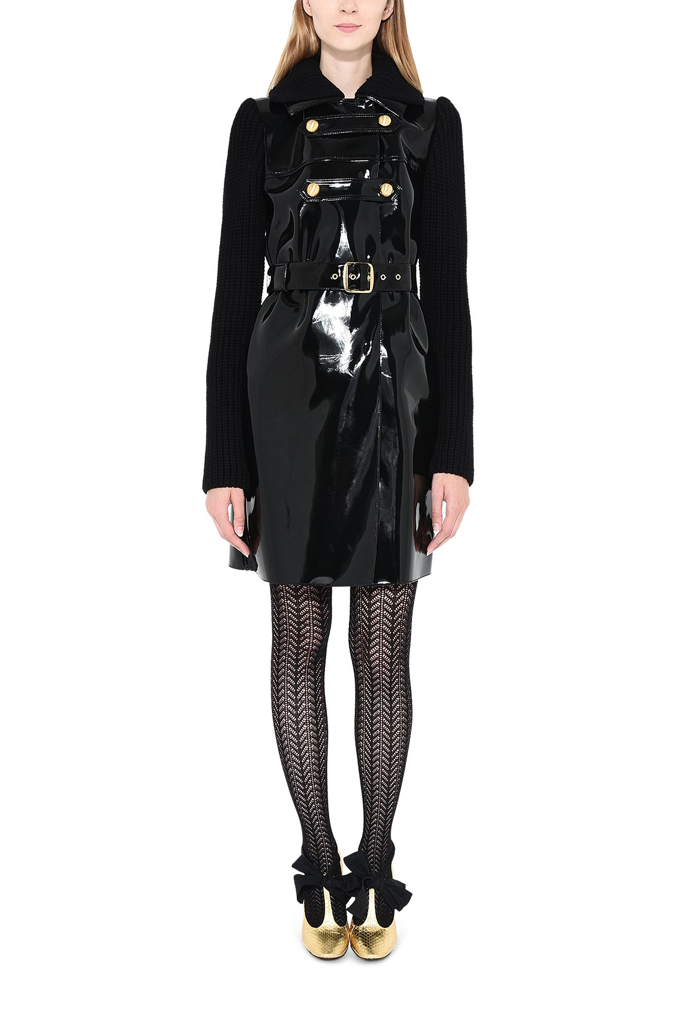 PHILOSOPHY di LORENZO SERAFINI Long coat D Vinyl-effect coat. r
