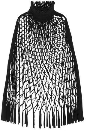 JUNYA WATANABE Honeycomb-pleated felted wool-blend cape