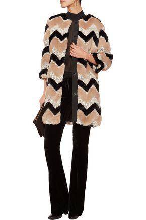 AINEA Faux fur and bouclé coat