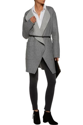 JOIE Calia belted wool-blend coat