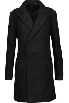 RTA Agnes leopard-print felt coat