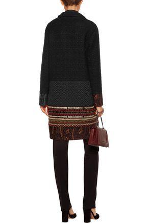 ETRO Embellished wool-blend jacquard and matelassé coat