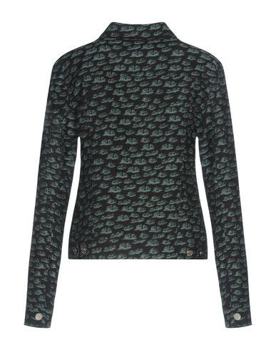 Фото 2 - Женскую куртку JULIEN DAVID темно-синего цвета