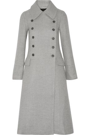 CO Double-breasted wool and silk-blend coat