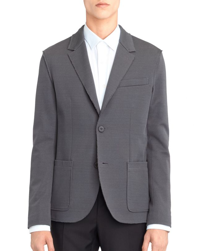 LANVIN GREY DECONSTRUCTED JACKET Jacket U r
