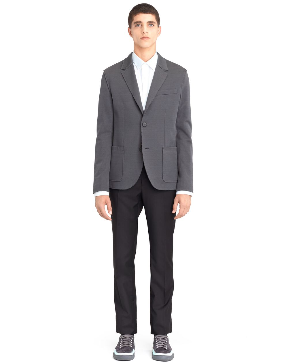 GREY DECONSTRUCTED JACKET - Lanvin