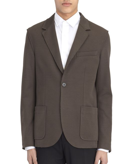 DARK KHAKI DECONSTRUCTED JACKET - Lanvin