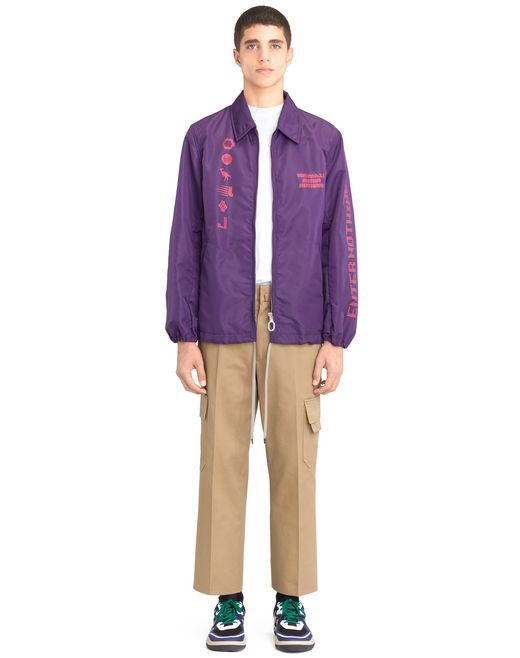"lanvin ""symbol"" nylon long jacket men"