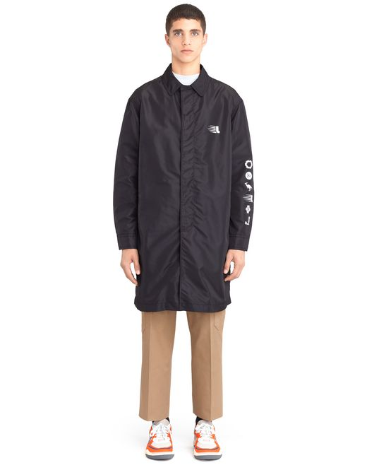 "lanvin ""mountain"" nylon raincoat men"