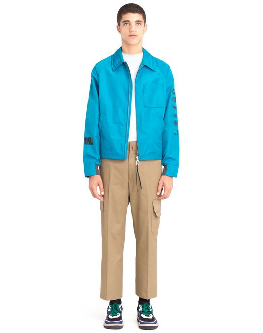 "lanvin ""diplo branding"" nylon jacket men"