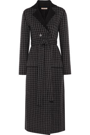 BOTTEGA VENETA Houndstooth wool and cashmere-blend coat