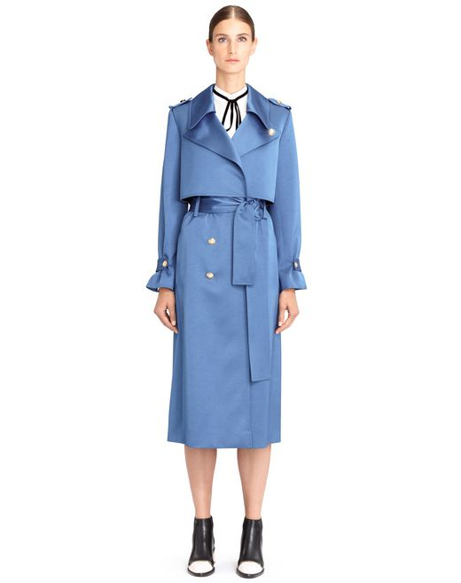 SATIN TRENCH COAT - Lanvin